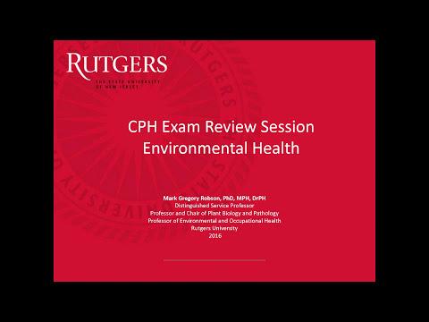 CPH Study Session Webinar - Environmental Health