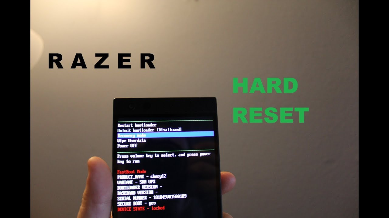 RAZER phone 2 Hard reset and Recovery mode ( password reset)