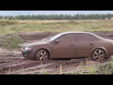 Audi A4 1.8T quattro на бездорожье отрывок из теста