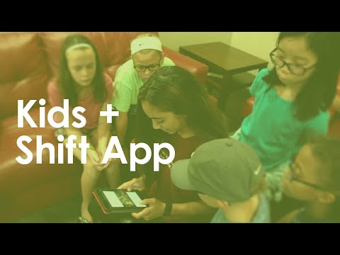 Kids Make Worship Media with the Shift App