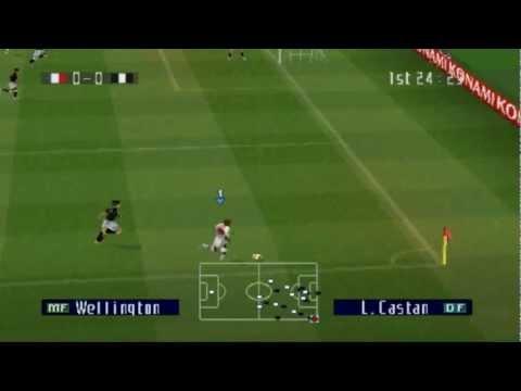 Como hacer goles de tiro libres en pes 13 en psp - YouTube