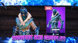Fortnite Snowfoot Skin Gameplay (Fortnite New Skins Today)