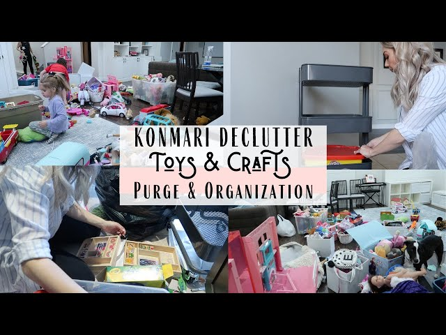 Konmari Method Declutter | Toys And Crafts Purge | Inspiration & Motivation