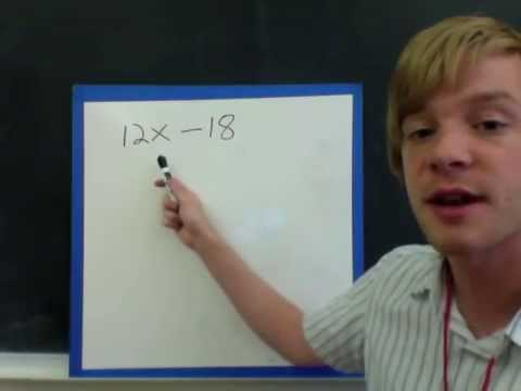 Factoring the Greatest Common Factor out of a Polynomial