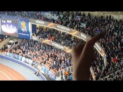 Fans ridiculos del Zenit en Anoeta, hijos de puta Real Sociedad Zenit uefa europa league