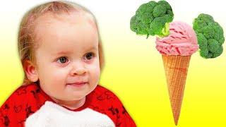 Ты любишь брокколи с мороженым - Детская Песня | Песни для детей от Майи и Маши.