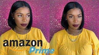 $50 Affordable Bob Lace Front Wig   Amazon Prime Wig   13x6 Human Hair Wig   Jaja Hair