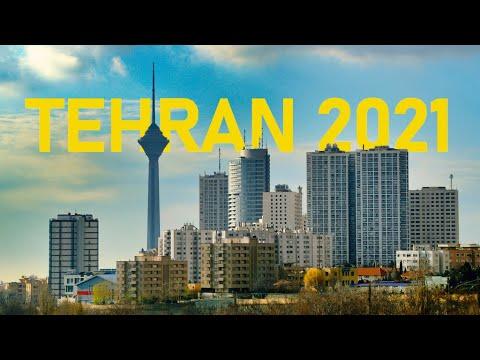 TEHRAN 2021, Driving Downtown 4K 60fps, July 2021