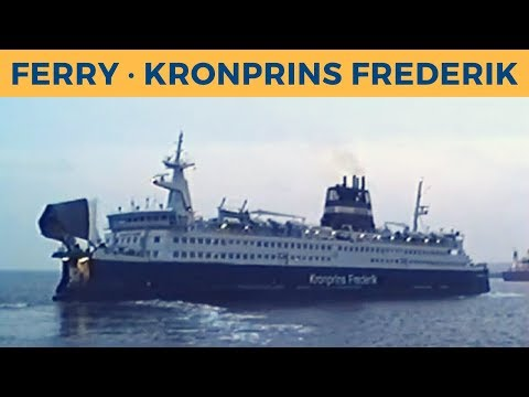 Classic Ferry Video 1994 - Departure of ferry KRONPRINS FREDERIK in Nyborg (DSB)