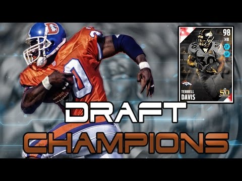 "Madden NFL 16 Draft Champions ""High Number Draft"" 98 Terrell Davis Gameplay And Amazing Game!"
