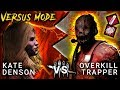 KATE DENSON vs OVERKILL TRAPPER - Dead by Daylight with HybridPanda