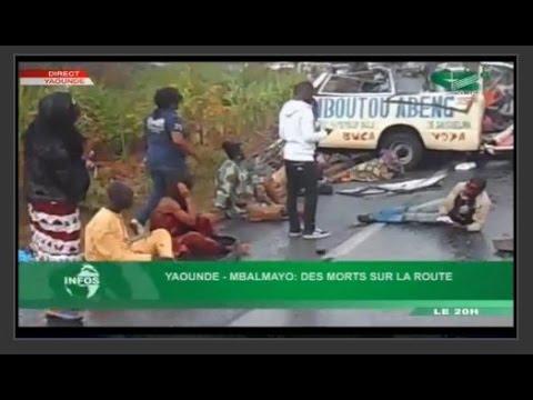 Accident grave sur la route de Yaoundé Mbalmayo des morts sur la route