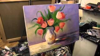 Научиться рисовать цветы в вазе, Сахаров, тюльпаны маслом на холсте(ВСЕ НОВОЕ НА http://saharov.tv Официальные сайты: http://artsaharov.com http://faniyasaharova.com http://polinasaharova.com http://ladasaharova.com ..., 2014-12-16T18:33:03.000Z)
