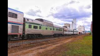 Amtrak Empire Builder with 3 Dome cars. Lake City, MN