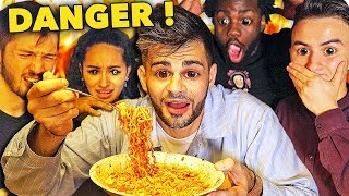 SPICY NOODLES CHALLENGE (défi extreme) [feat. HUGOPOSAY, LONNI, MAILE, NICO MATHIEUX...]