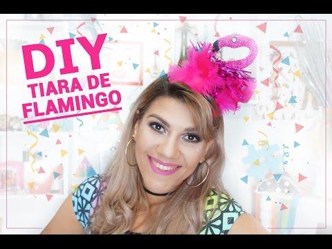 Diy Tiara E Fantasia De Carnaval Flamingo Youtube