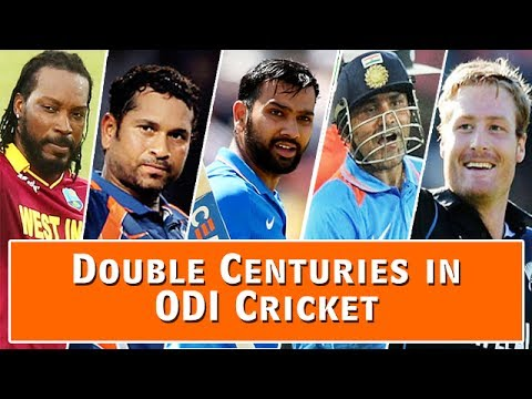 Double Centuries in ODI Cricket | 3 Indians are in List | Rohit Sharma scored Two Double Centuries