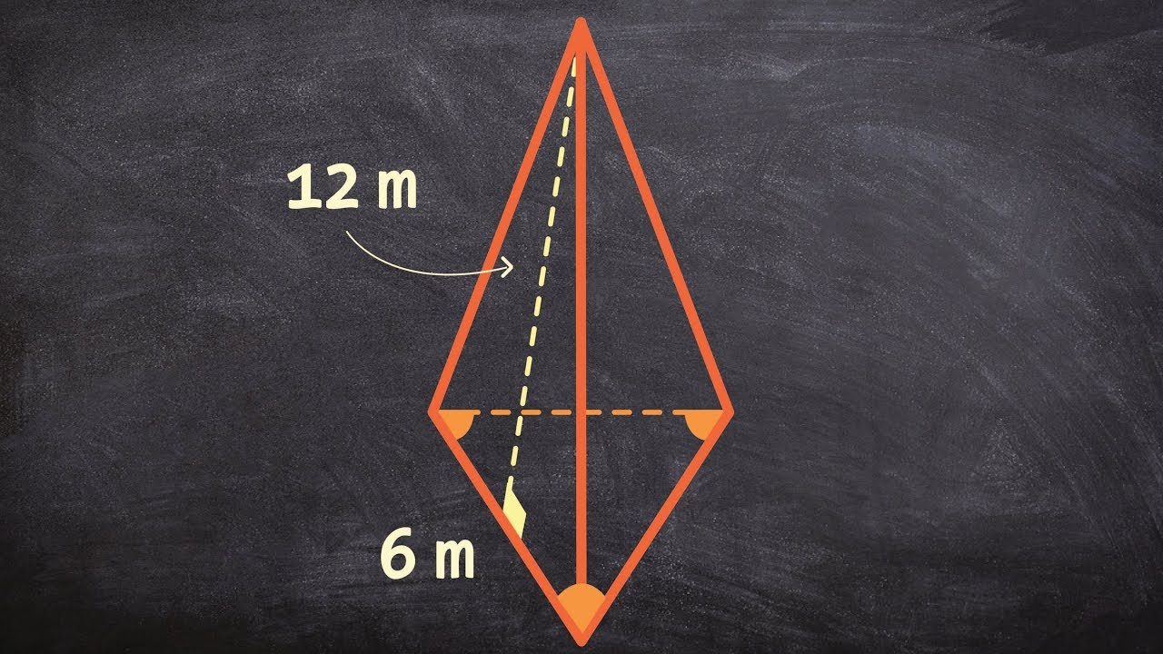 Geometry Learn How To Determine The Surface Area Of A Triangular Pyramid  201611