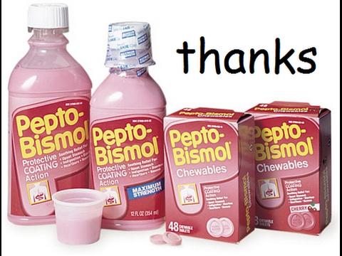Pepto Bismol For Upset Stomach Diarrhea Relief Youtube