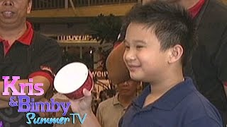 Bimby tries ice cream catching