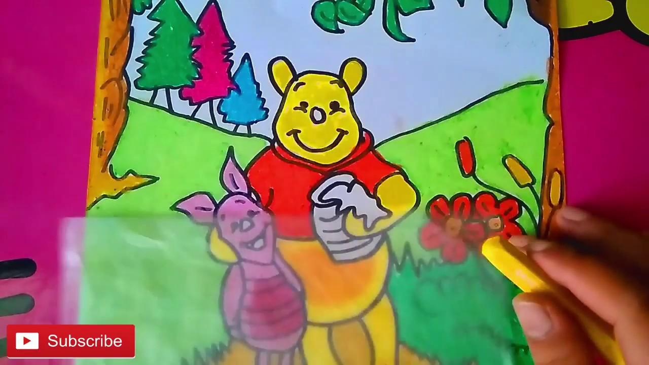 Cara Mewarnai Gambar Winnie The Pooh