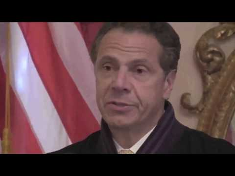 Gov  Andrew Cuomo honors Denny Farrel At Mansion Video by Jose Rivera 6:20:17