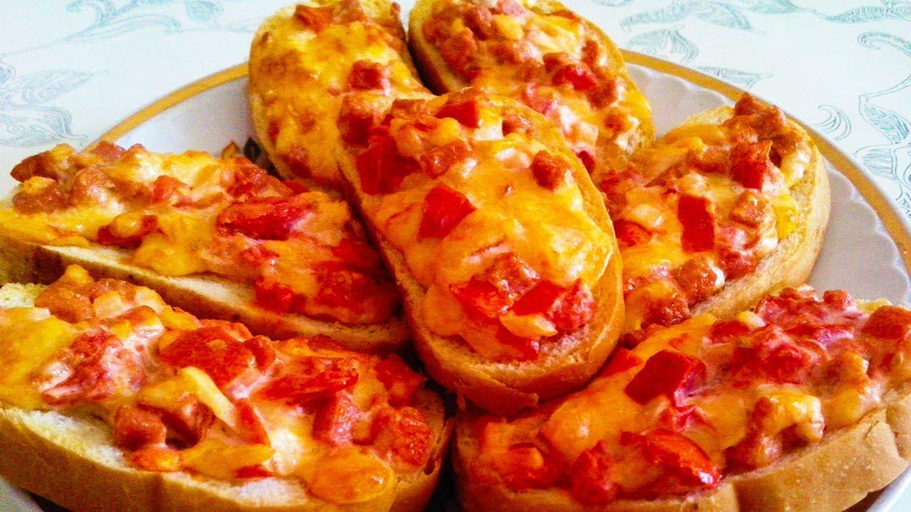 Быстрый горячий завтрак за 5 -10 минут | Перекус | Пицца | Горячие бутерброды на праздничный стол