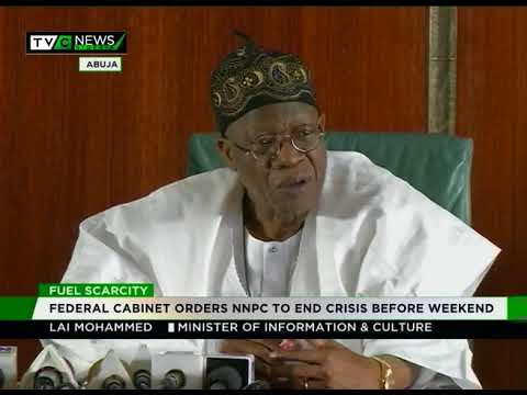 Federal Cabinet orders NNPC to end fuel scarcity before weekend
