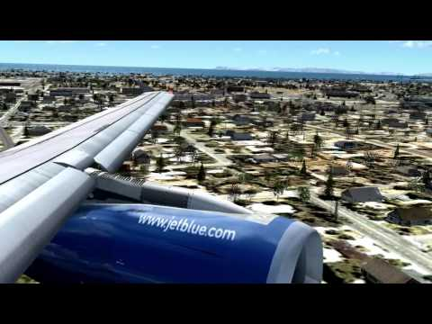 jetBlue A320 Landing at Long Beach [Real Sounds]