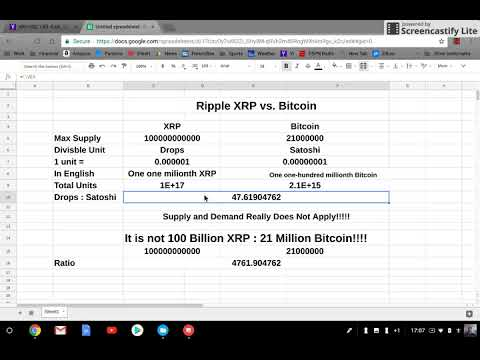 What You Need To  Know!!! XRP Vs Bitcoin Supply!!!