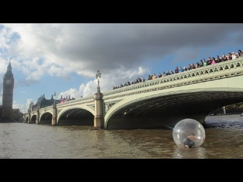Extreme Water Zorb Ball in The River Thames
