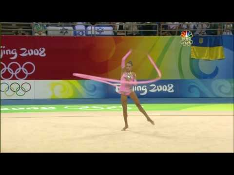 Evgenia Kanaeva Ribbon 2008 Olympic AA (HD)
