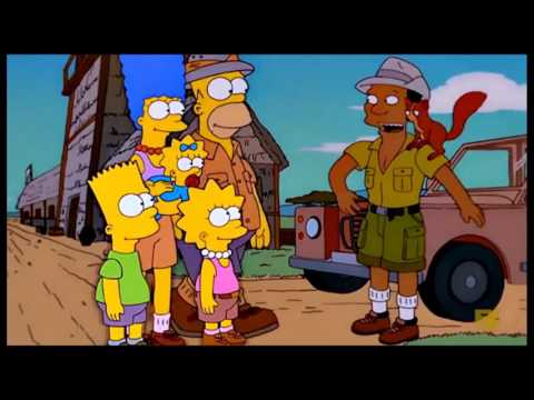 The Simpsons: The Simpsons go to africa [Clip]