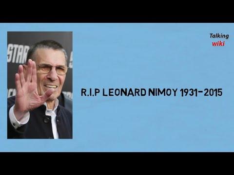 R.I.P Leonard Nimoy (Mr Spock) 1931-2015
