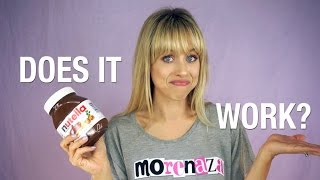 Dyeing my hair with NUTELLA!?! | Superholly