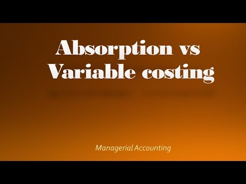 Comparing Absorption and Variable Costing