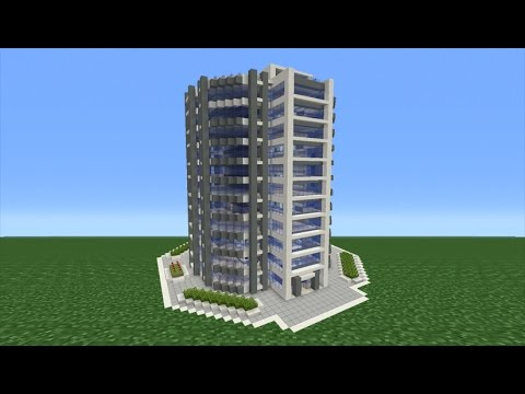 minecraft tutorial how to make a modern skyscraper youtube