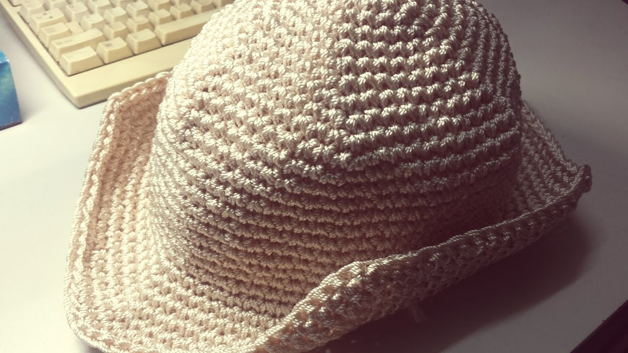 How To Crochet A Cowboy Hat Youtube
