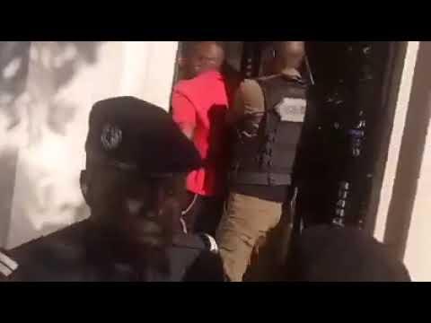 Le film de l'arrestation de Guy Marius Sagna devant le palais