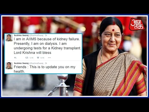 Sushma Swaraj Suffers Kidney Failure, Put On Dialysis