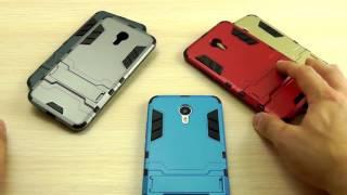 ОБЗОР: Комбинированный Противоударный Чехол-Накладка для Meizu M3 Note Ultra Hybrid с Подставкой
