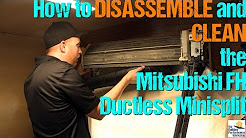 Mitsubishi FH Ductless Minisplit: How to Take Apart & Clean