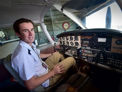 Lachlan Smart is the youngest person to fly solo around the world