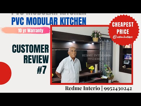 #LowCost #PVCModularKitchen #Customer #Review #Feedback #Full Home #Pvc Cupbords Work#RedMe Interio