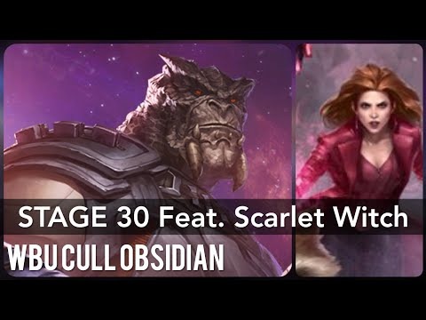 Stage 30 Cull Obsidian WBU with Scarlet Witch (Infinity War) - Marvel Future Fight