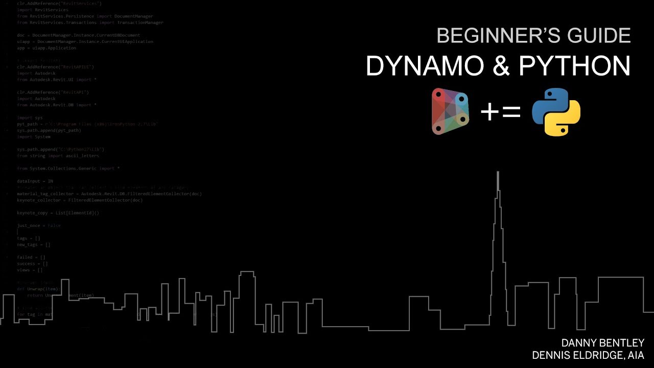 SFDUG Sept 2017 | Beginner's Guide to Python for Dynamo Users
