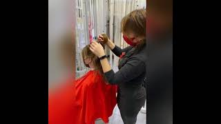 Женская стрижка КАСКАД Haircut for women Шевченко Виктория салон красоты La Familia Бровары