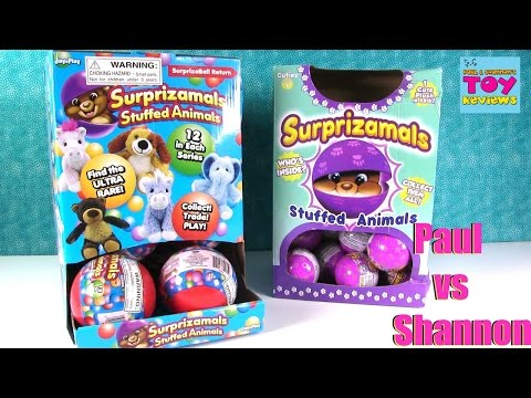 Paul vs Shannon Surprizamals Edition Blind Bag Opening Unboxing Challenge | PSToyReviews