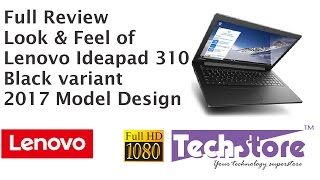 Lenovo Ideapad 310 Black 2017 Full review India model hinges speaker in full HD