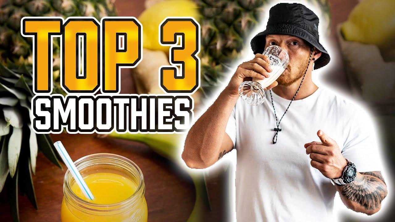 TOP 3 Smoothie Rezepte zum Abnehmen und einem gesunden Fitness Lifestyle